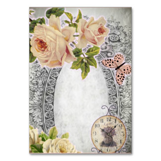 Cards of wedding for tables vintage 2017