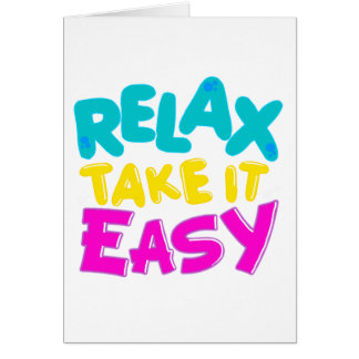 cards RELAX TAKE IT EASY