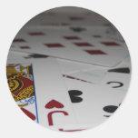 Cards Round Sticker