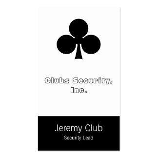 Cards Suit Clubs Business Card Template