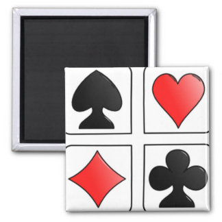 Cards Suits, Diamonds, Spades, Hearts, Clubs Magnet