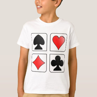 Cards Suits, Diamonds, Spades, Hearts, Clubs T-Shirt