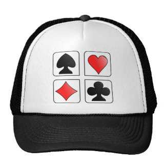 Cards Suits, Diamonds, Spades, Hearts, Clubs Trucker Hat