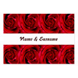 Cards template - customizable red roses business cards
