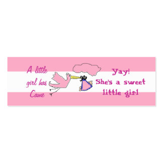 Cards to announce new aunt and new baby Girl Double-Sided Mini Business Cards (Pack Of 20)
