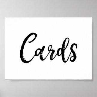 Cards Wedding Sign Elegant Brushed Script Black