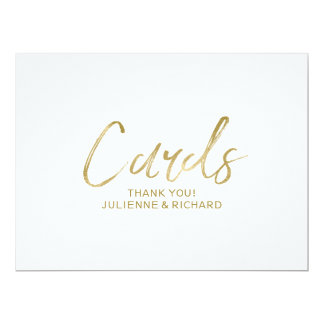 """Cards"" Wedding Sign 