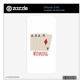 cards_winning decals for the iPhone 4