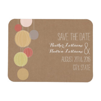 Cardstock Inspired Colorful Lanterns Save The Date Magnet