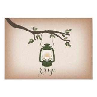 Cardstock Inspired Green Camping Lantern RSVP Card