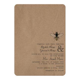 Cardstock Inspired Honey Bee Wedding Card