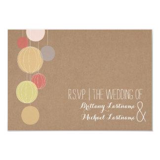 Cardstock Inspired Lanterns Garden Wedding RSVP Card