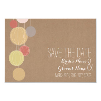 Cardstock Inspired Lanterns Wedding Save The Date Card