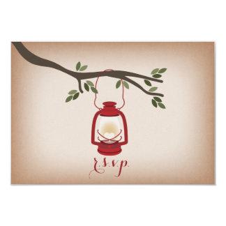 Cardstock Inspired Red Camping Lantern RSVP Card