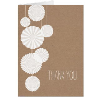 Cardstock Inspired Rosettes Thank You Card