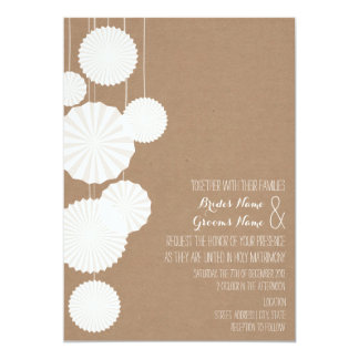 Cardstock Inspired Rosettes Wedding Invitation