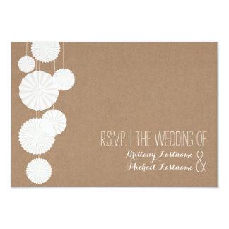Cardstock Inspired Rosettes Wedding R.S.V.P. Card