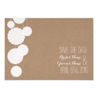 Cardstock Inspired Rosettes Wedding Save The Date 3.5x5 Paper Invitation Card