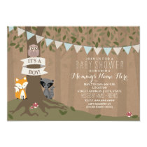 Cardstock Inspired Woodland Baby Shower - Boy Invitation