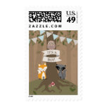 Cardstock Inspired Woodland Blue Baby Postage