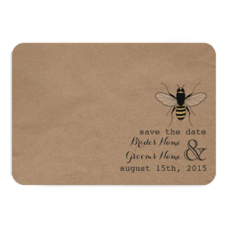 Cardstock nspired Honey Save The Date 3.5x5 Paper Invitation Card