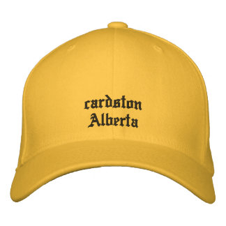 cardston Alberta Canada Hat Embroidered Baseball Cap
