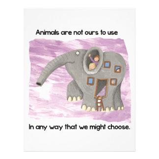 Care about animals! custom letterhead
