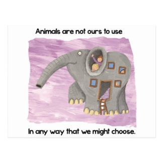 Care about animals! postcard