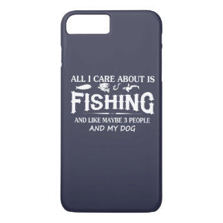 Care About Fishing and My Dog iPhone 7 Plus Case