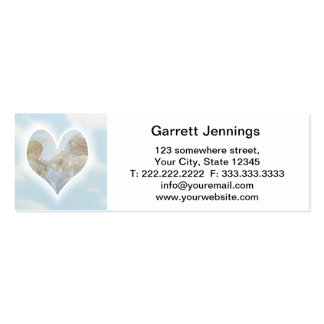 Care and Concern Cherubs with Doves in the clouds. Double-Sided Mini Business Cards (Pack Of 20)