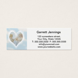 Care and Concern Cherubs with Doves in the clouds. Mini Business Card