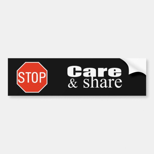 Care and Share Car Bumper Sticker