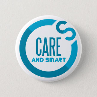 care and smart pinback button