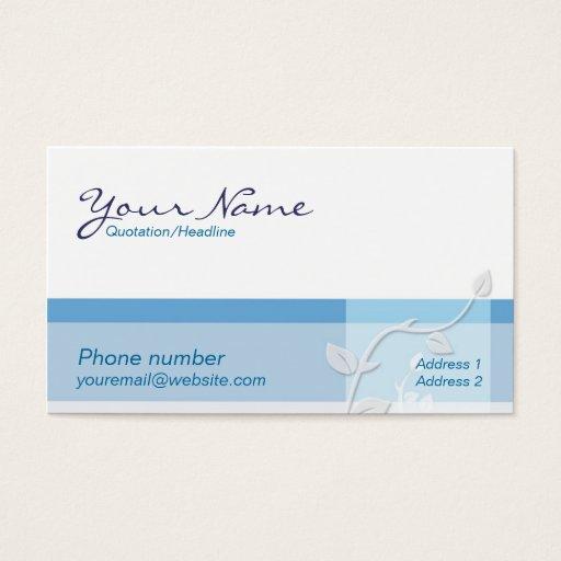 Care Blue Business Card