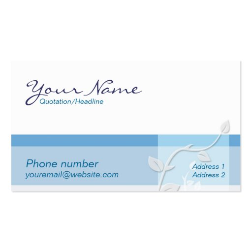 Care Blue Business Card