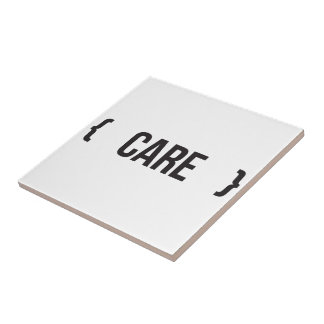 Care - Bracketed - Black and White Tile