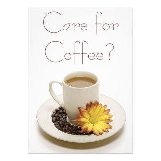 Care for Coffee Invitations