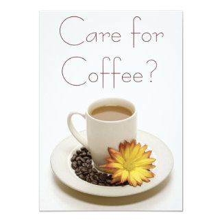 Care for Coffee Invitations