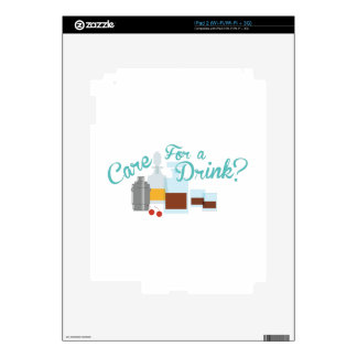 Care For Drink Decals For The iPad 2
