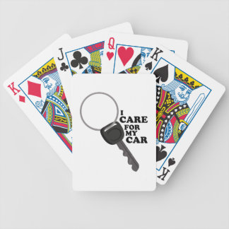 Care for My Car Bicycle Playing Cards