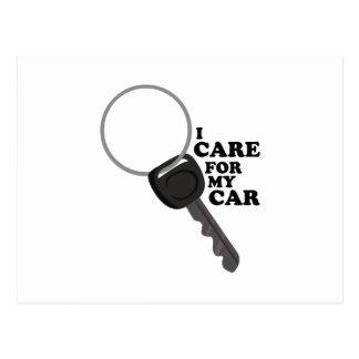 Care for My Car Postcard