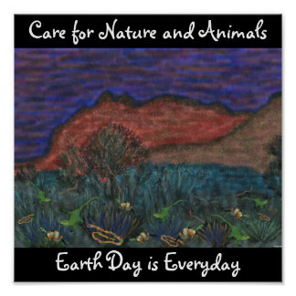 Care for Nature and Animals Poster