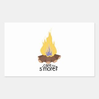 Care For Smore Rectangular Sticker