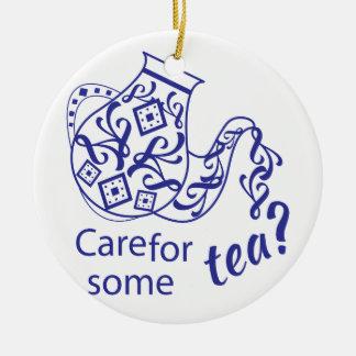 Care For Tea Ceramic Ornament