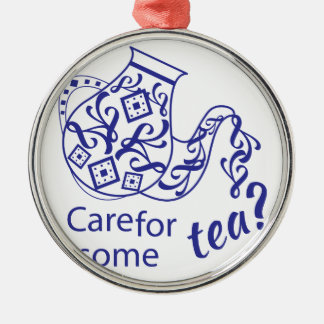 Care For Tea Metal Ornament