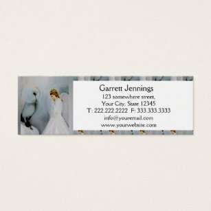 Owl business cards templates zazzle care guardian angel and white owl mini business card colourmoves