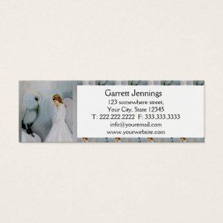 Care Guardian Angel and White Owl Mini Business Card