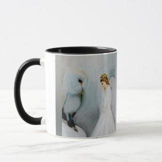 Care Guardian Angel and White Owl Mug