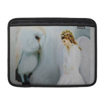 Care Guardian Angel and White Owl Sleeve For MacBook Air
