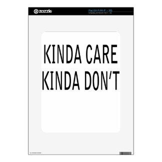 care iPad skins